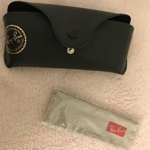Ray Ban sunglasses case and cloth only